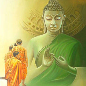 Buddha Paintings On Canvas Painting By Indian